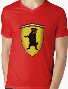Ferrari Pug Mens V-Neck T-Shirt