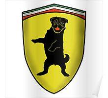 Ferrari Pug Poster