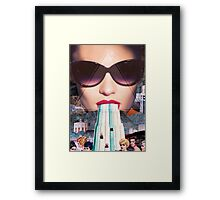 Pool Side  Framed Print