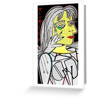 picasso ink abstract Greeting Card