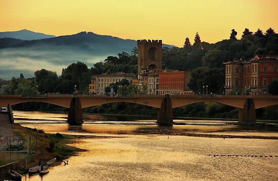 Morning Along the Arno by Barbara  Brown