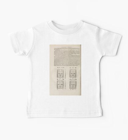 Famous Painter Parts Human Body Symmetry Four Books Geomety 1557 Albrecht Durer 0176 Heads Baby Tee