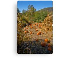 Pumpkin Highway Canvas Print