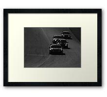 Castrol Canadian Touring Cars Hyundai Subaru BMW Acura Monochrome Framed Print