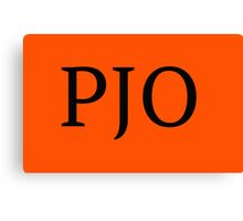 PJO Canvas Print