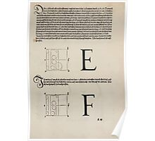 Measurement With Compass Line Leveling Albrecht Dürer or Durer 1525 0119 Alphabet Letters Calligraphy Font Poster