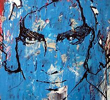 Painting : Blue head by AM Gallery