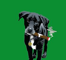 Smokin' Staffie Cross by Bloomin'  Arty Babies