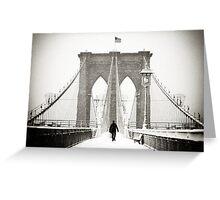 Brooklyn Bridge and Snow Greeting Card