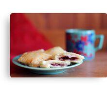 Berry Pastry Tea Break Canvas Print