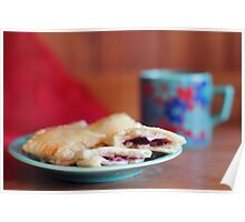 Berry Pastry Tea Break Poster