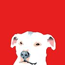 white staffie by Bloomin'  Arty Families