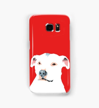 white staffie Samsung Galaxy Case/Skin