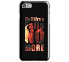 Gallifrey - No More (Black) - Simple Typography Collection iPhone Case/Skin