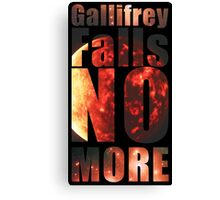 Gallifrey - No More (Black) - Simple Typography Collection Canvas Print