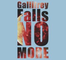 Gallifrey - No More (Black) - Simple Typography Collection Kids Clothes