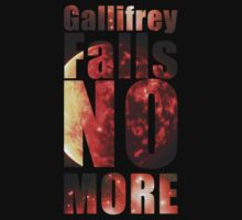 Gallifrey - No More (Black) - Simple Typography Collection by TheParaglider