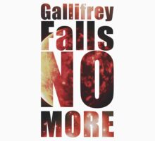 Gallifrey - No More (Black) - Simple Typography Collection One Piece - Short Sleeve