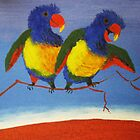 THE RAUCOUS RAINBOW LORIKEET (AUSTRALIA) by Rose Langford