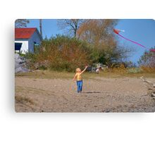 Lets Go Fly a Kite Canvas Print