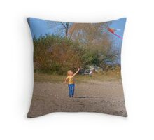 Lets Go Fly a Kite Throw Pillow