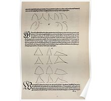 Measurement With Compass Line Leveling Albrecht Dürer or Durer 1525 0055 Repeating Shapes Poster