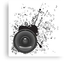 Music Poster with Audio Speaker 2 Canvas Print