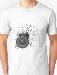 Music Poster with Audio Speaker 2 T-Shirt