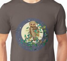 Owl and Moon Unisex T-Shirt