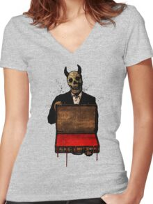 Old Scratch Women's Fitted V-Neck T-Shirt