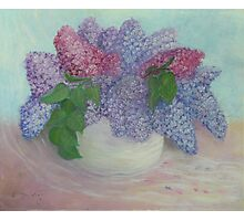 Lilacs In A Vase Photographic Print