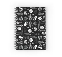 Black Tattoo Print Spiral Notebook