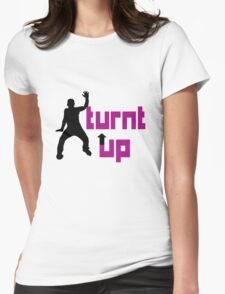 Turnt up geek funny nerd Womens Fitted T-Shirt