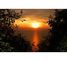 Sunset on sea Photographic Print