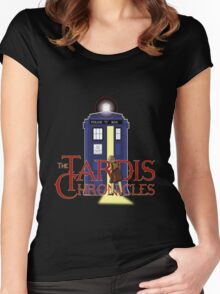 THE TARDIS CHRONICLES  Women's Fitted Scoop T-Shirt