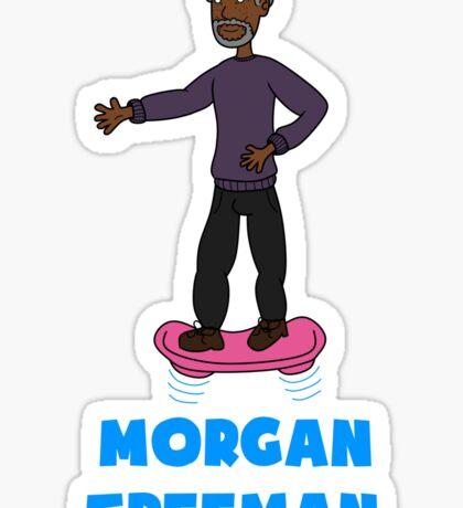 Morgan Freeman On A Hoverboard Sticker