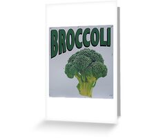 Old Farm Stand Sign Broccoli Greeting Card