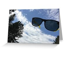 sunglasses sky Greeting Card