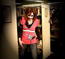 Zombies in the Library by SALIN