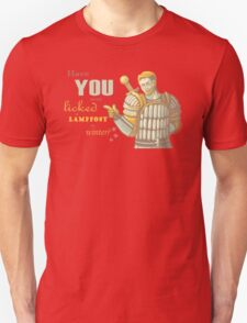 Alistair- Have you ever licked a lamppost in winter? Unisex T-Shirt