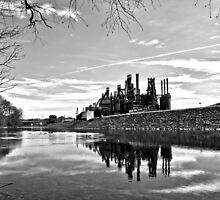 Reflection on the Lehigh by DJ Florek