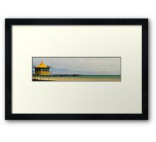 Afternoon on Glenelg Beach Framed Print