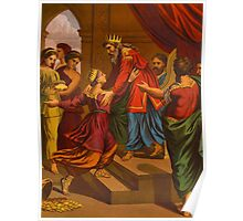 The Visit of the Queen of Sheba to Solomon. Poster