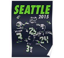 Seattle Seahawks 2015 Poster