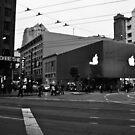 Apple Store on Market Street by Arjuna Ravikumar