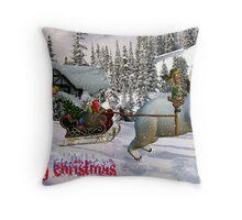 joyriders at Christmas time Throw Pillow