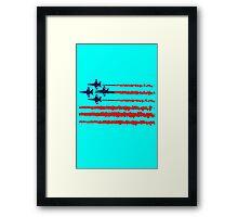Usa flag blue angels diamond red white geek funny nerd Framed Print