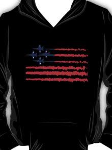 Usa flag blue angels diamond red white geek funny nerd T-Shirt