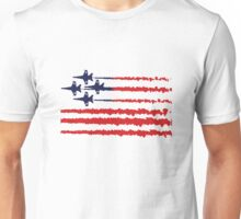 Usa flag blue angels diamond red white geek funny nerd Unisex T-Shirt