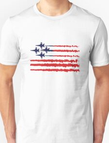 Usa flag blue angels diamond red white geek funny nerd T-Shirt
